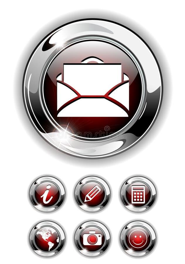 Web-Ikone, Tastenset. lizenzfreie abbildung
