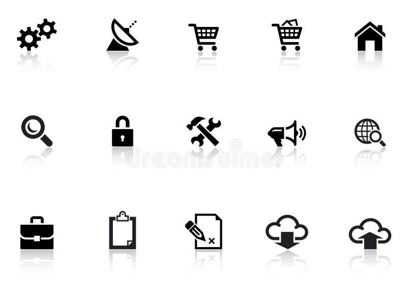 Web-Ikonen 1 lizenzfreie stockfotos