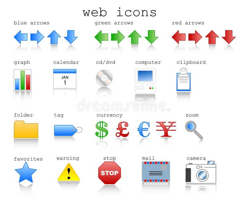 Web-Ikonen stock abbildung