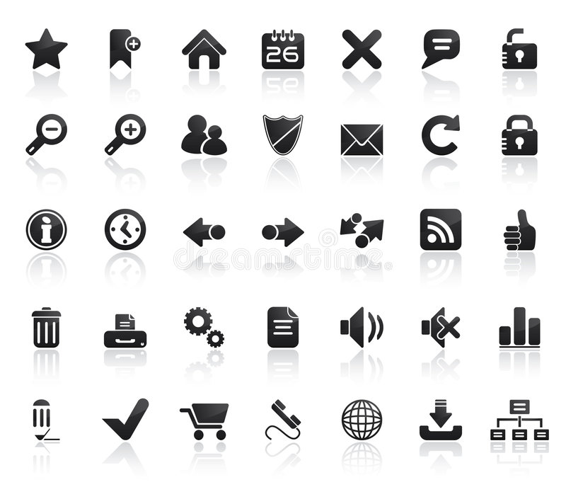 Web-Ikonen-Set lizenzfreie abbildung