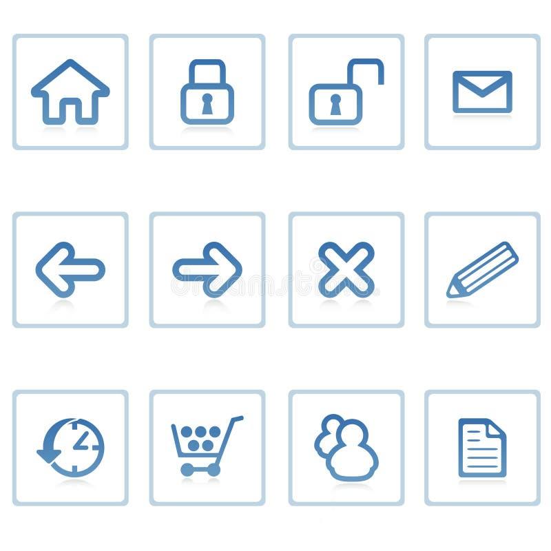 Web-Ikonen: Web site und Internierter stock abbildung