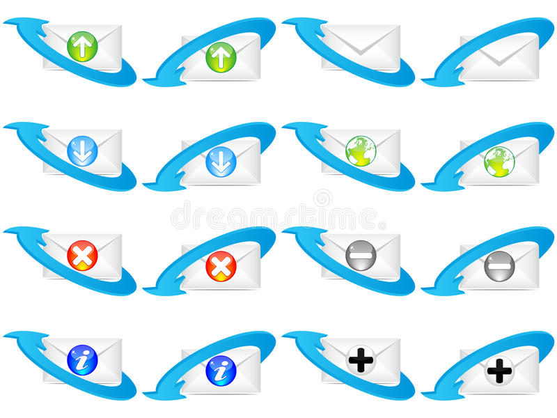 Web-Ikonenumschlag lizenzfreie abbildung