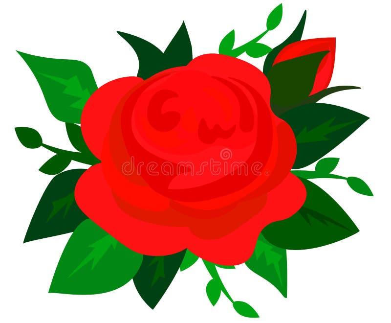 web Il mazzo delle rose, acquerello, può essere usato come cartolina d'auguri, carta dell'invito per nozze, compleanno e l'altri  royalty illustrazione gratis