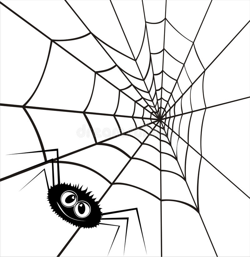 Free Web In The Form Of Heart And A Spider. Royalty Free Stock Photography - 23254517