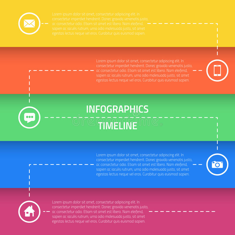 Web Infographic Timeline Template Layout With Stock Vector - Image ...