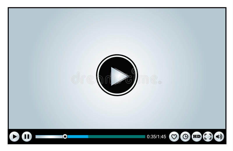 Download Web Or Internet Based Video Player Royalty Free Stock Photos - Image: 28504668