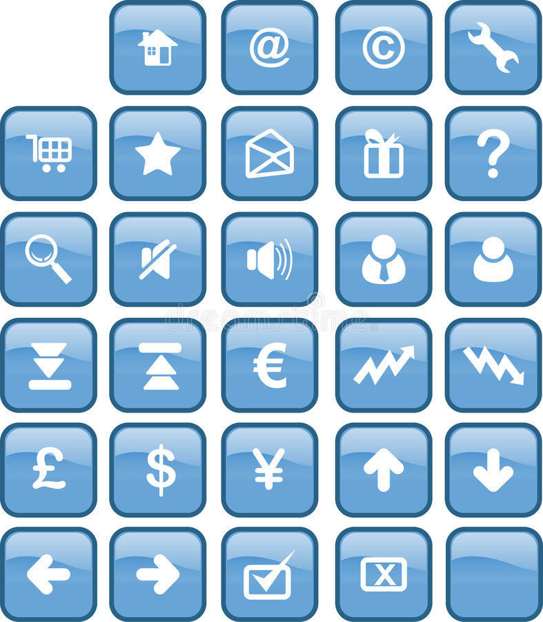 Download Web and internet button stock illustration. Illustration of button - 808562