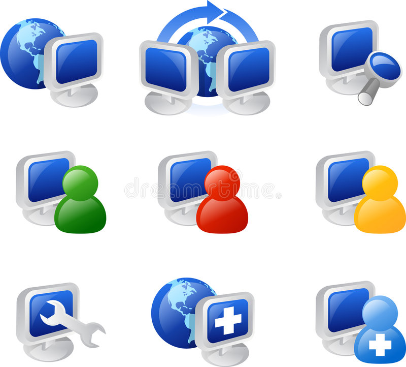 Web and internet icon stock illustration