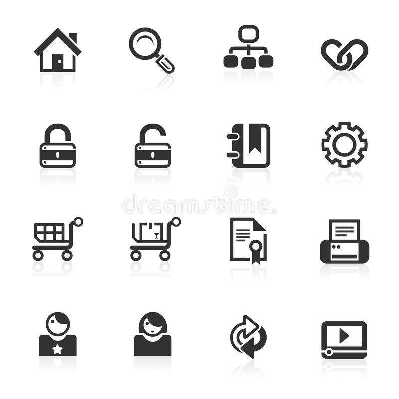 Web & Internet Icons 1 - minimo series stock illustration