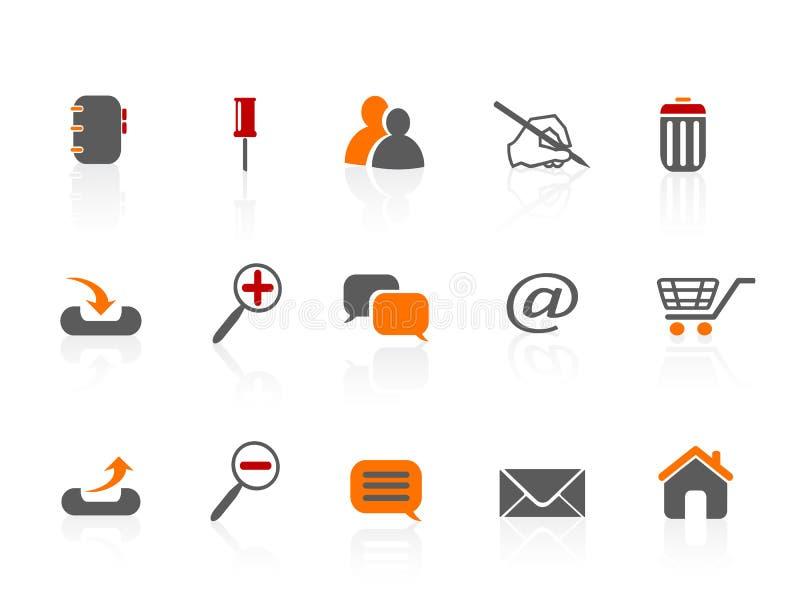 Web & Internet icons stock illustration