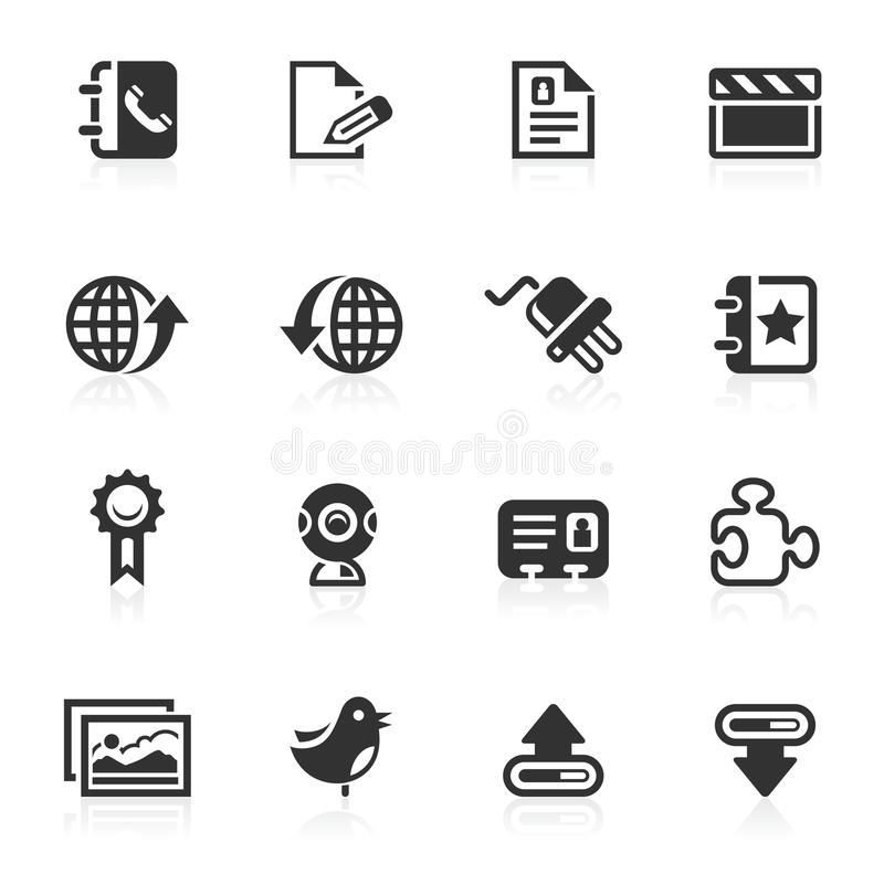 Web & Internet Icons 3 - minimo series stock photography