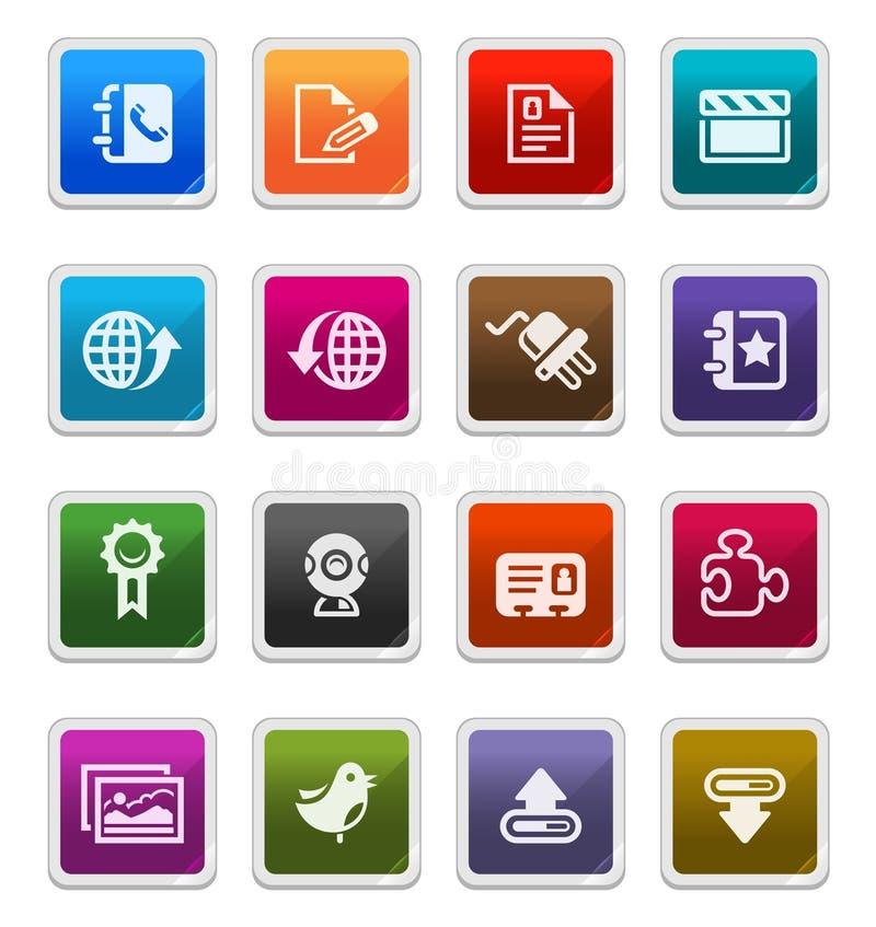 Web & Internet Icons 3 - sticker series vector illustration