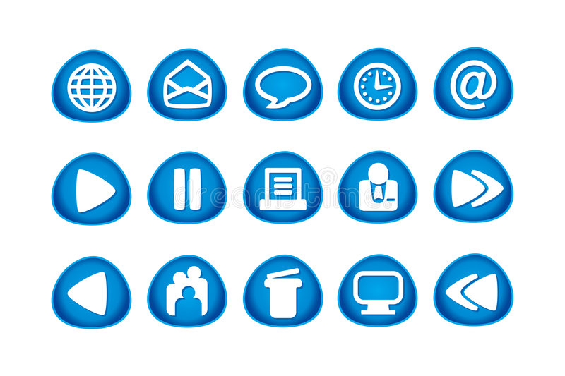 Web and Internet Icons royalty free illustration