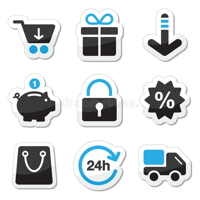 Download Web / Internet Icons Set - Shopping Stock Vector - Image: 25576395