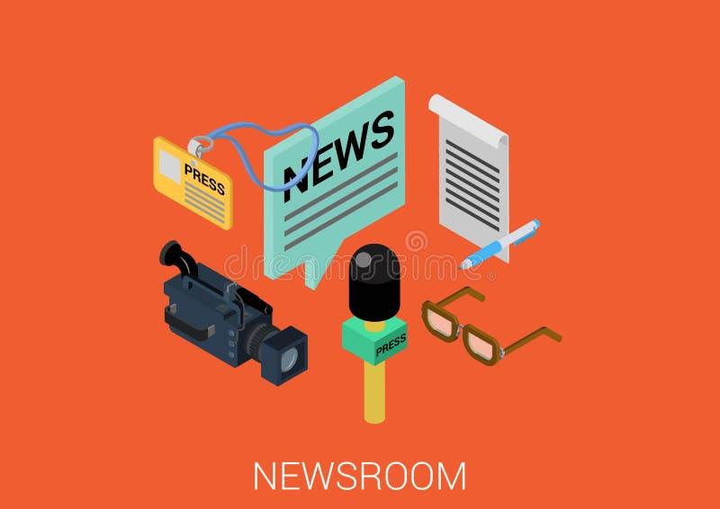 Web isométrique plat de vecteur de concept de la construction 3d infographic illustration libre de droits