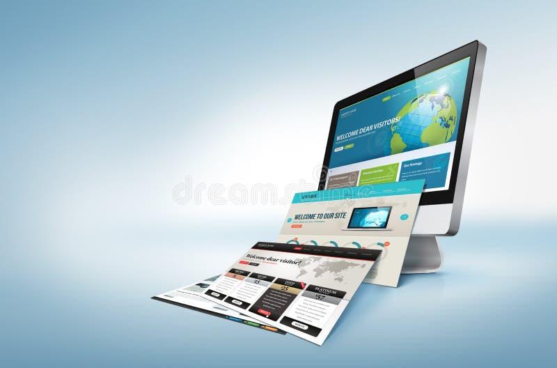 Web-Konzept des Entwurfes lizenzfreie abbildung