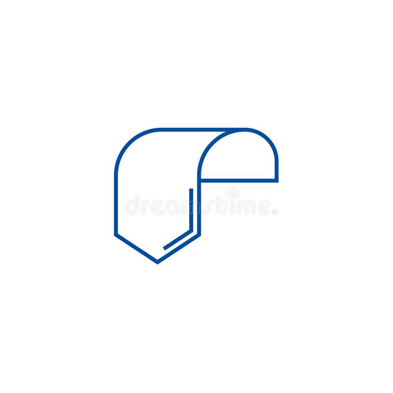Label tag sign line icon concept. Label tag sign flat  vector symbol, sign, outline illustration. vector illustration