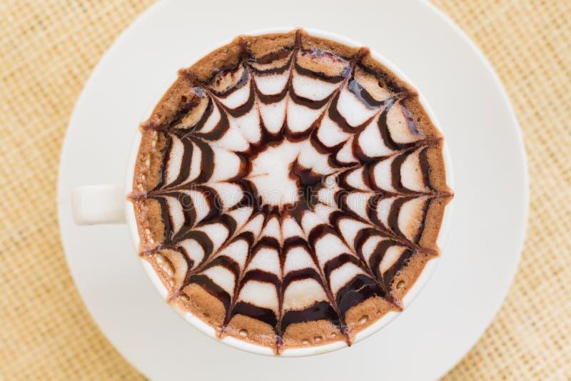 Web In Latte Foam On Cake Free Public Domain Cc0 Image
