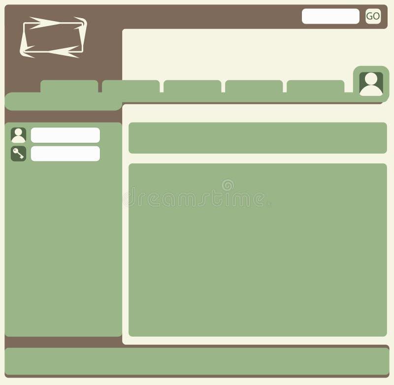 Web layout royalty free stock image