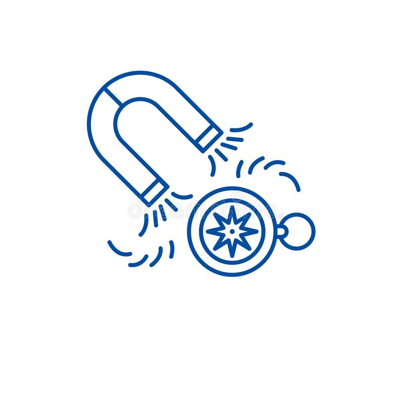 Lead generation line icon concept. Lead generation flat  vector symbol, sign, outline illustration. vector illustration