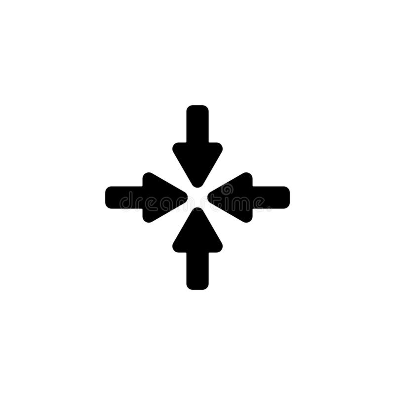 Line icon. Four arrows vector illustration