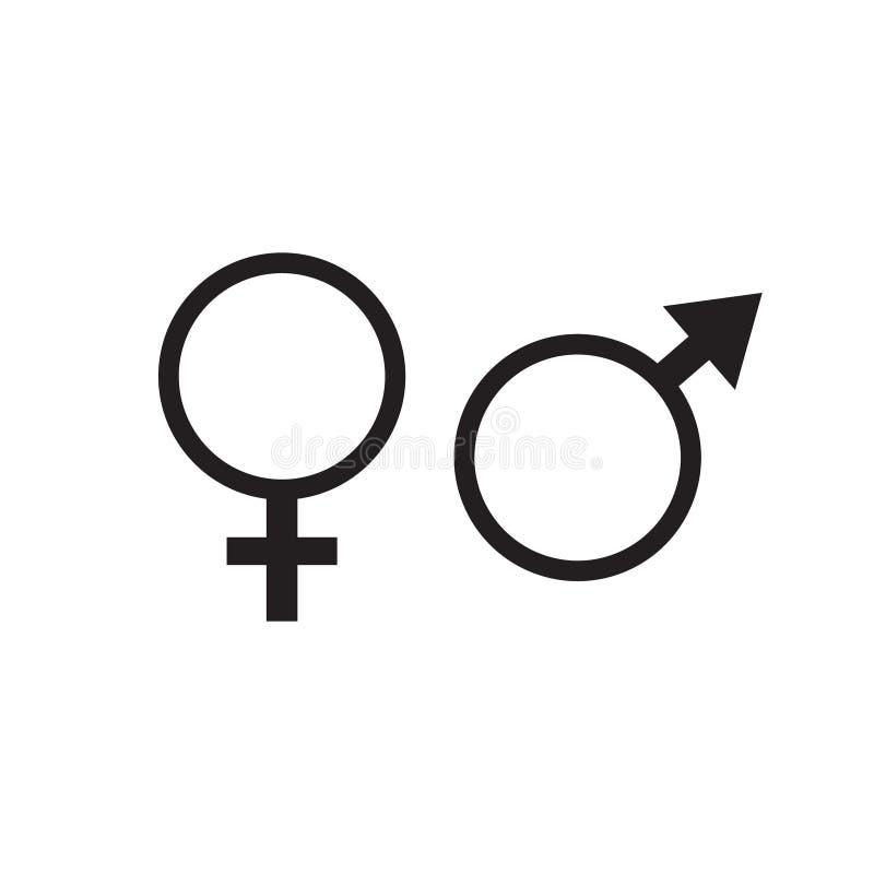 Symbols of men and women vector illustration