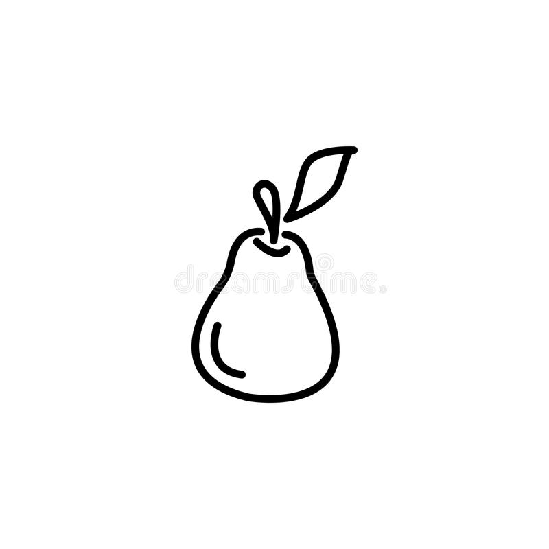 Line icon. Pear symbol stock illustration