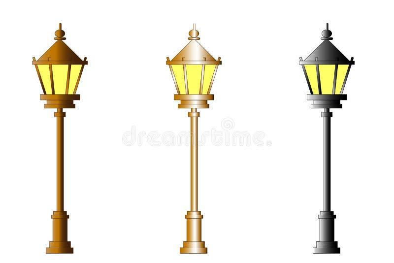 web Luces de calle - parque Sistema del vector stock de ilustración