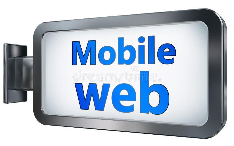 Web móvil en fondo de la cartelera ilustración del vector