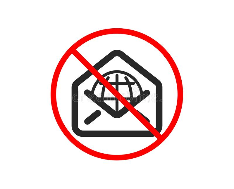 Web Mail icon. Message correspondence sign. Vector royalty free illustration