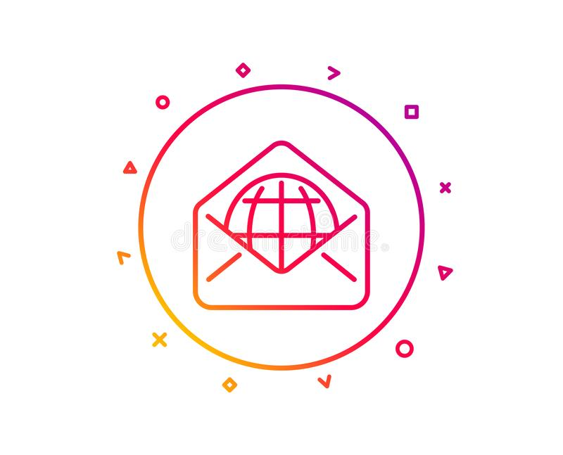 Web Mail line icon. Message correspondence sign. Vector. Web Mail line icon. Message correspondence sign. E-mail symbol. Gradient pattern line button. Web Mail stock illustration
