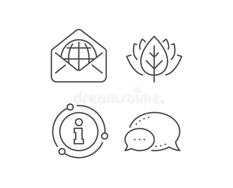 Web Mail line icon. Message correspondence sign. Vector. Web Mail line icon. Chat bubble, info sign elements. Message correspondence sign. E-mail symbol. Linear vector illustration