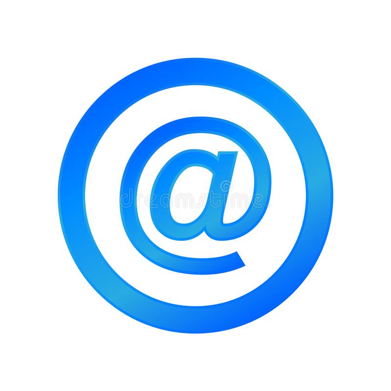 Web mail symbol. Sign internet royalty free illustration
