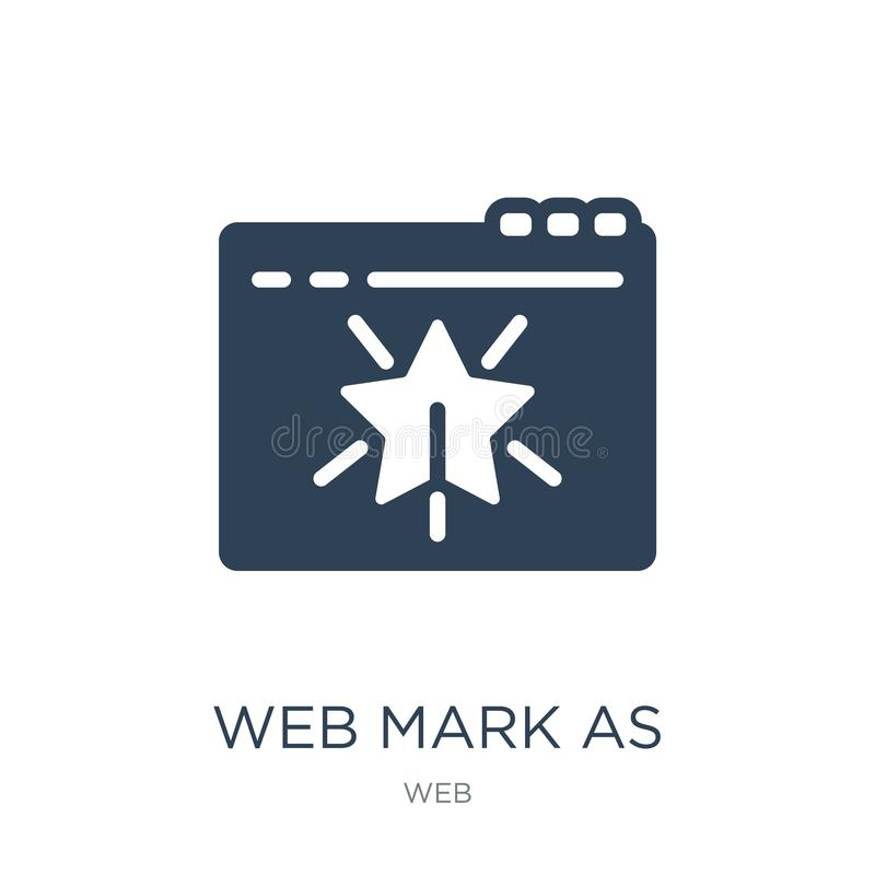 web mark as favorite star icon in trendy design style. web mark as favorite star icon isolated on white background. web mark as royalty free illustration
