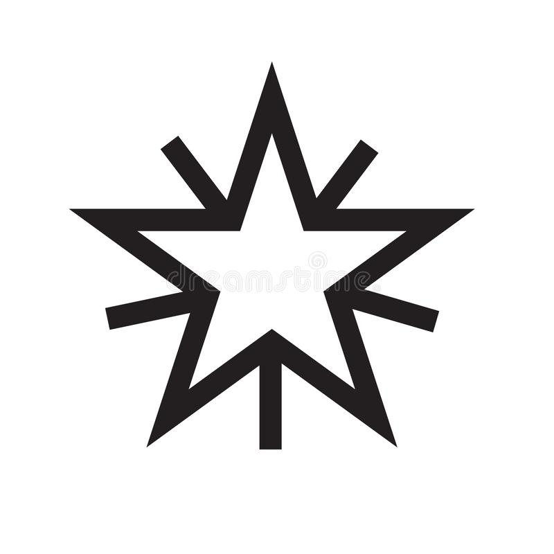 Web mark as favorite star icon vector sign and symbol isolated o stock illustration