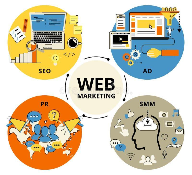 Web Marketing royalty-vrije illustratie