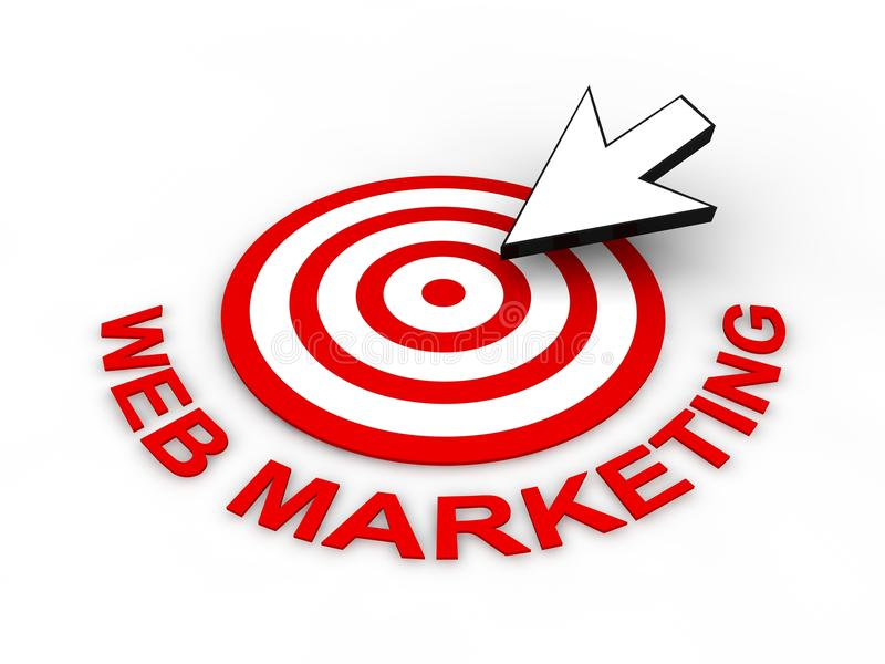Download Web Marketing Concept stock illustration. Illustration of word - 18675197