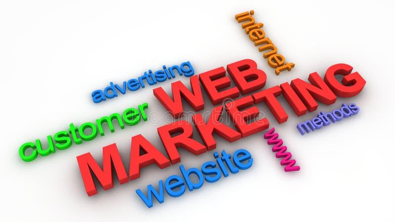 Web-Marketing-Konzept lizenzfreies stockbild