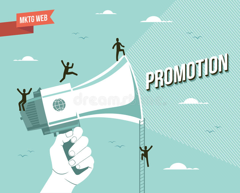 Web marketing promotion illustration. This vector illustration is layered for easy manipulation and custom coloring