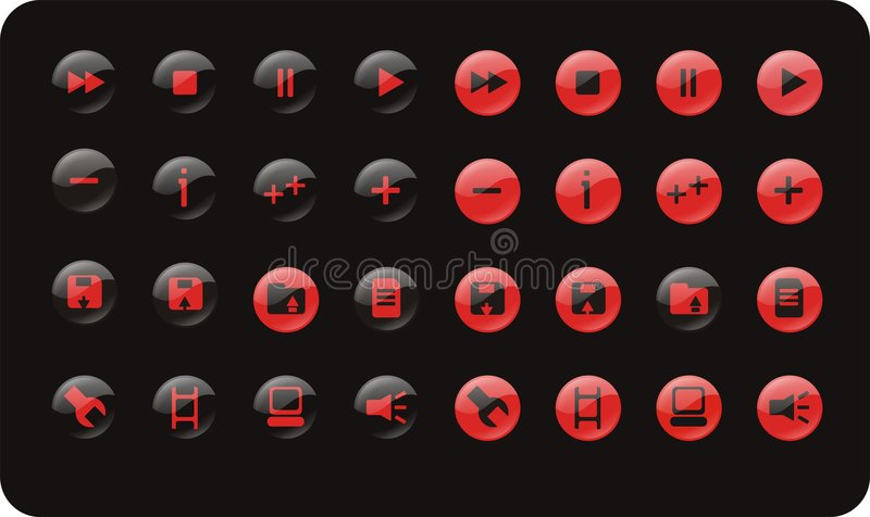Download WEB AND MEDIA ICON SET stock vector. Image of music, sets - 2259885