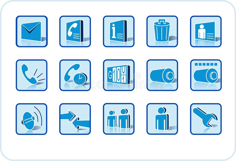 Download Web and media icon set stock vector. Illustration of counter - 2385812