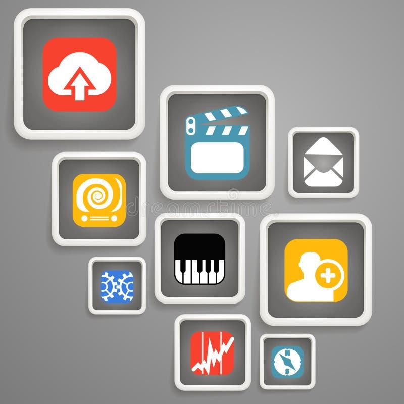 Download Web Media Icons Stock Photo - Image: 30836160