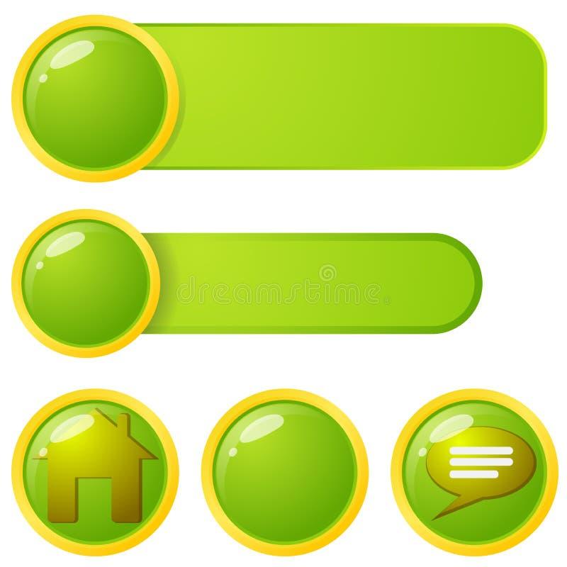 Web Menu Elements Royalty Free Stock Image