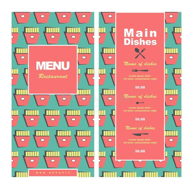 Fast Food Restaurant Menu Creative Design Concept Stock