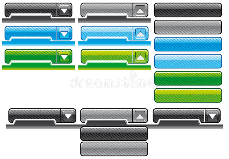 Download Web menus stock vector. Image of isolated, grey, green - 15566634