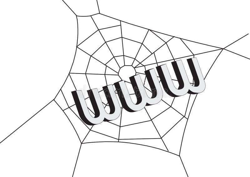 Web met www stock illustratie