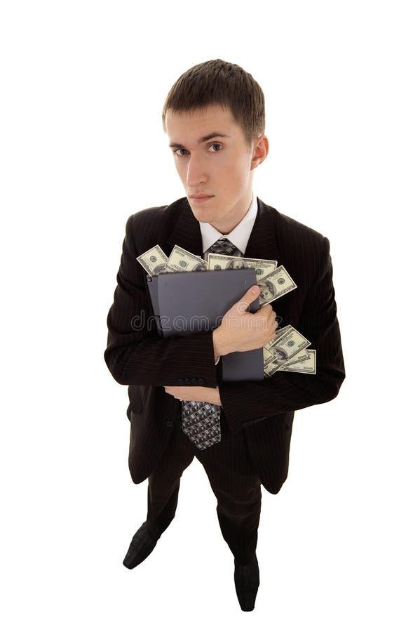 Web-misdadig stoles geld stock fotografie