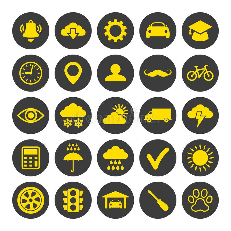 Web and mobile icons set on white background. vector illustration