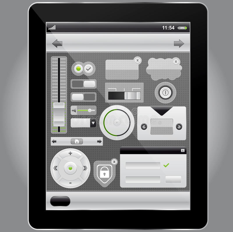 Download Web And Mobile Interface Elements And Tablet Pc Stock Vector - Image: 22722739