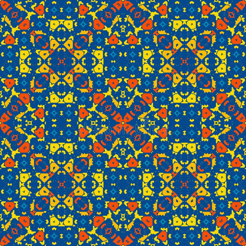 Moroccan tile - bright colored seamless pattern. stock photo